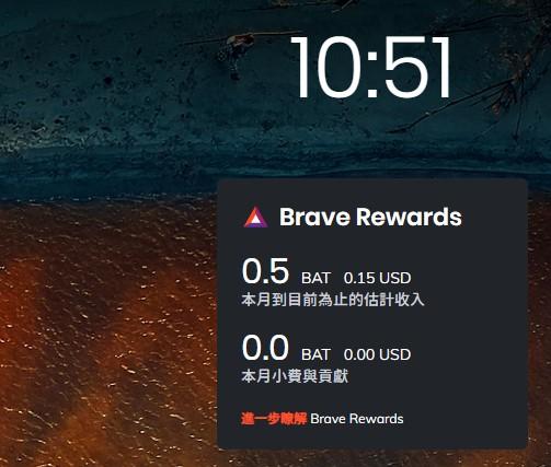Brave Rewards 你開始賺到了嗎? 15